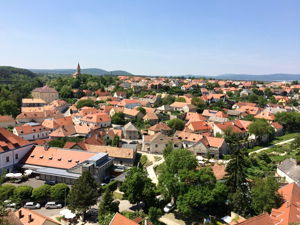 View from the castle in Veszprem, Hungary