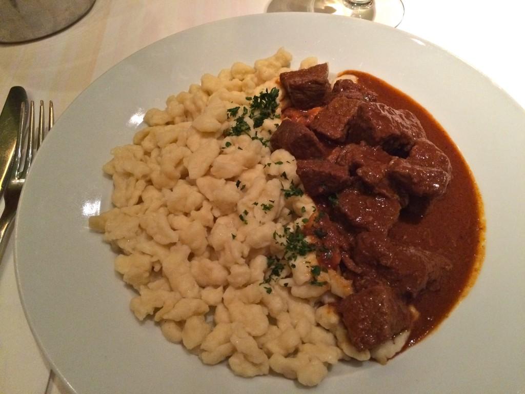 Menza, beef stew noodles