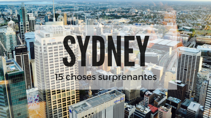 Sydney 15 choses surprenantes