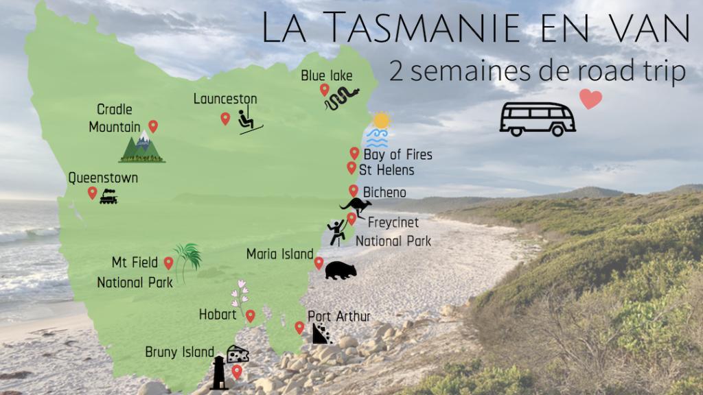 Itinéraire Road Trip Tasmanie