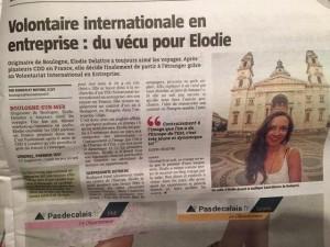 Article Voix du Nord, Boulogne sur mer