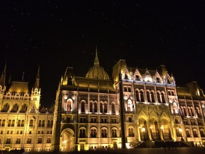 Parliament by night, Budapest