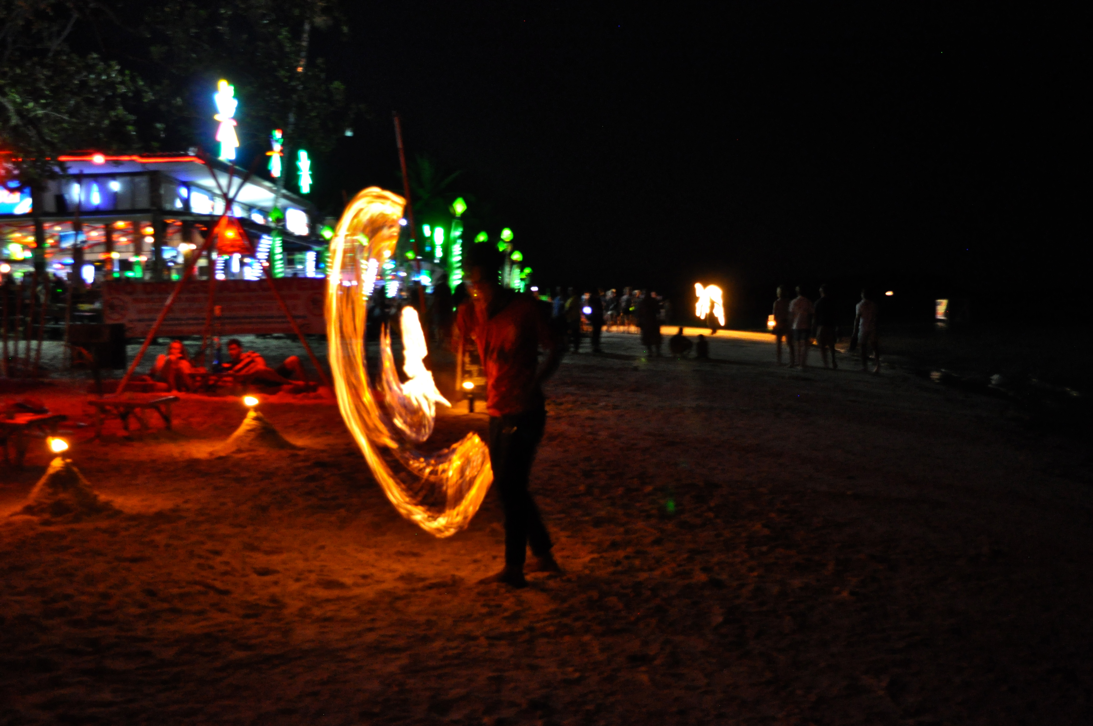 Chaweng beach by night, Thailand
