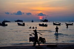 Koh Tao Sunset Sairee Beach, Thailand