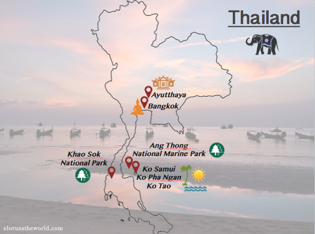 Thailand 2 weeks - itinerary