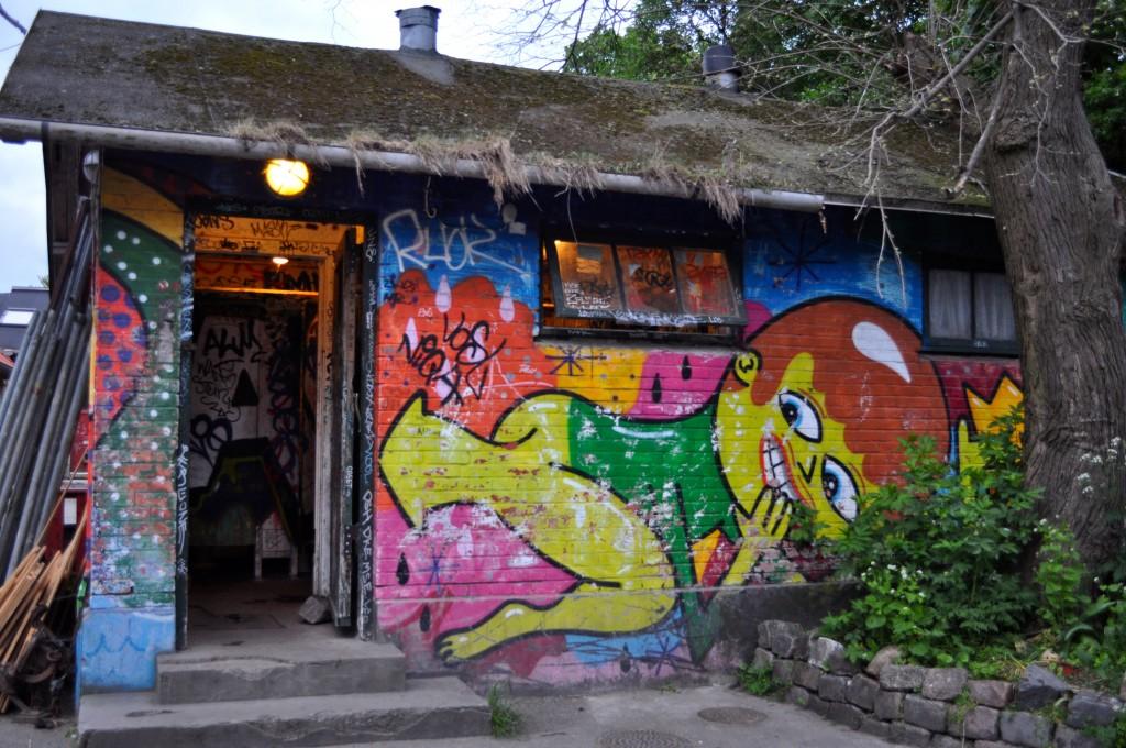 Street art at Christiania, Copenhagen
