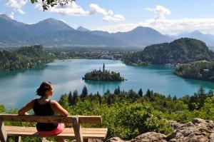 Bled lake view