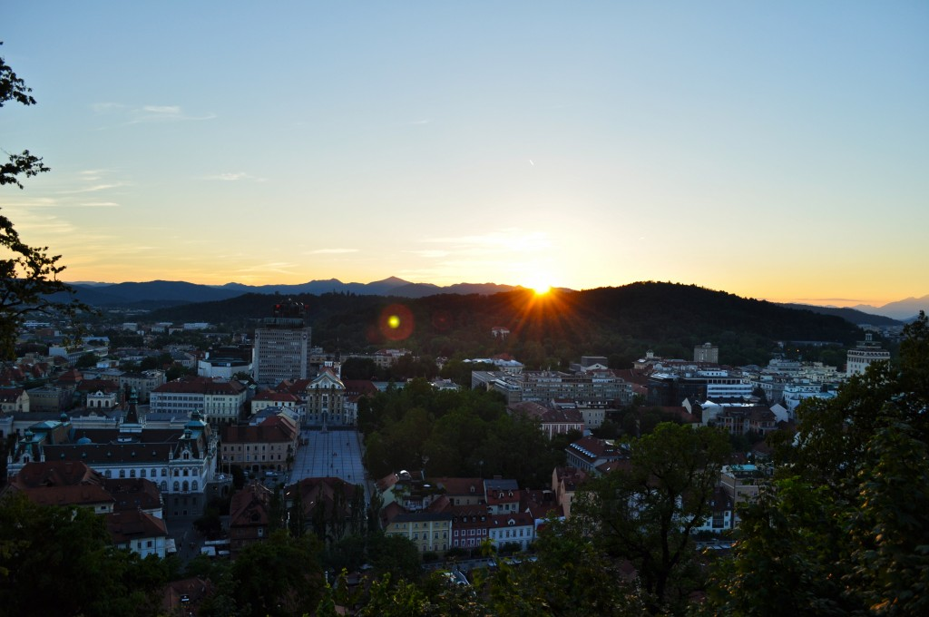 Sunset in Ljubljana