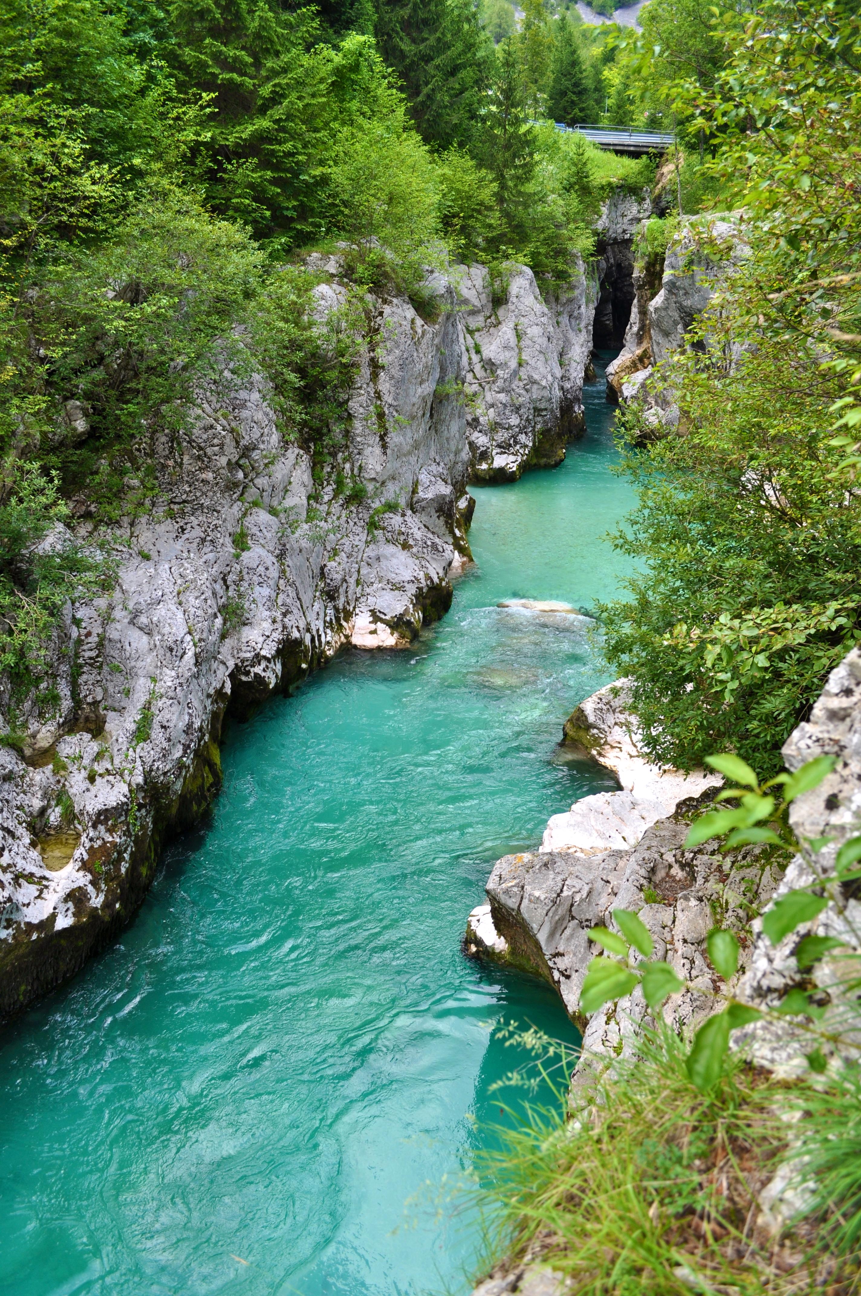 Les gorges de la Soca Slovenie