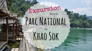 Excursion dans le Parc National de Khao Sok