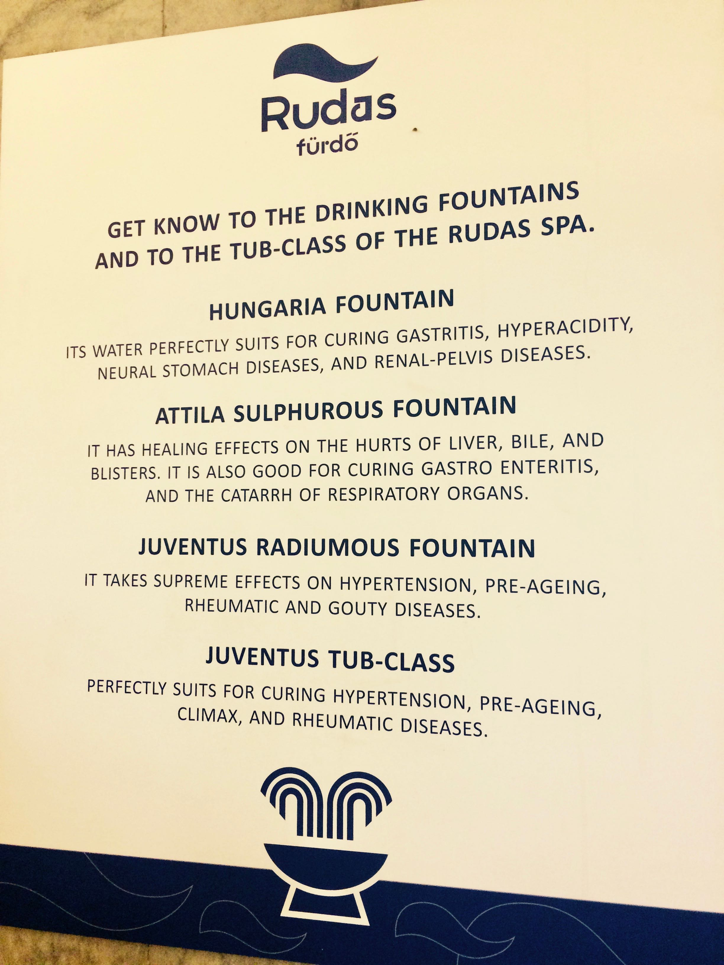 Ivócsarnok Budapest - Thermal Water