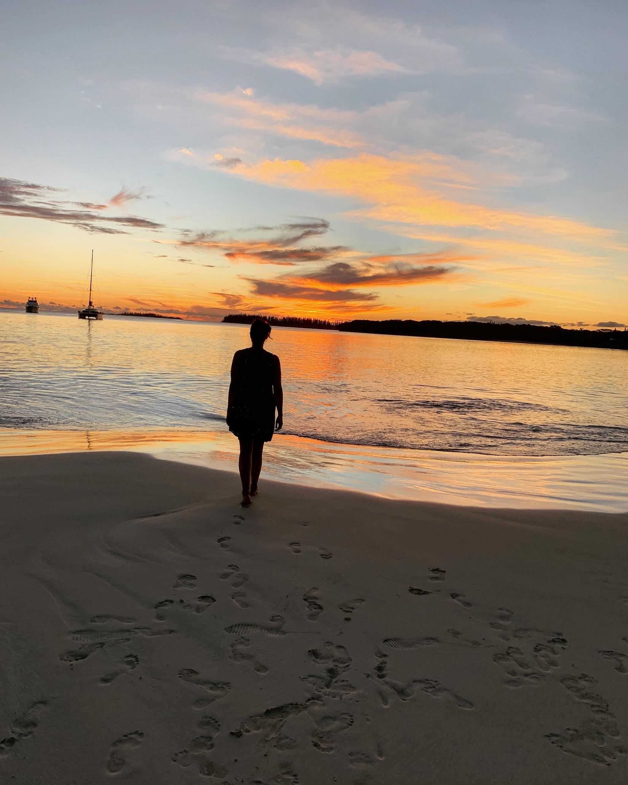 Coucher de soleil sur l'ile des Pins